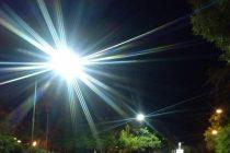Nuevas luminarias en la Plaza San Martín