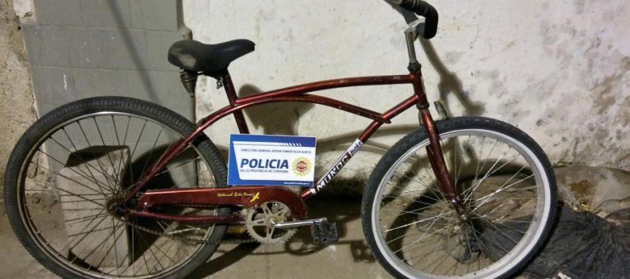 Recuperaron una bicicleta robada  y denunciaron el hurto una hormigonera