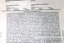 Intiman a Chiocarello a que aclare situación de la médica despedida del Hospital