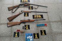 La FPA secuestró armas y municiones en una vivienda de Berrotarán