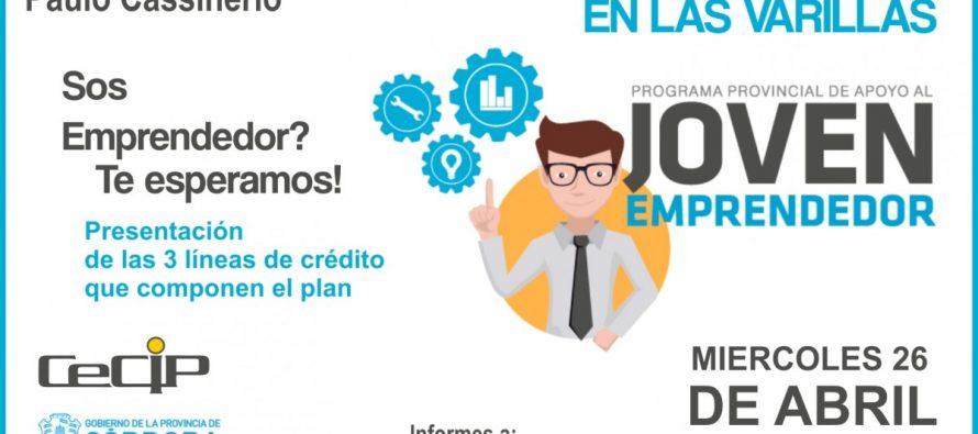 El presidente de la Agencia Córdoba Joven estará en Las Varillas