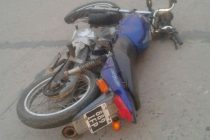 Motociclista fracturado tras una colisión