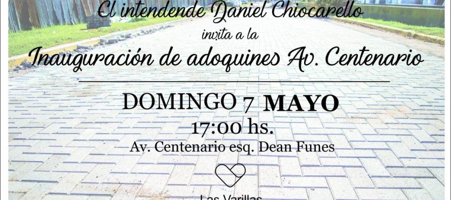 El domingo inauguran el adoquinado de la Av Centenario