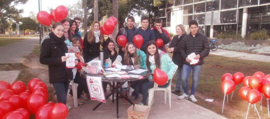 Colegios participaron de la campaña de donación de sangre