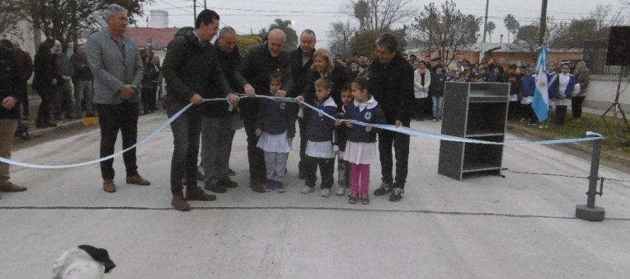 Inauguraron pavimento de hormigón en distintas calles de la ciudad