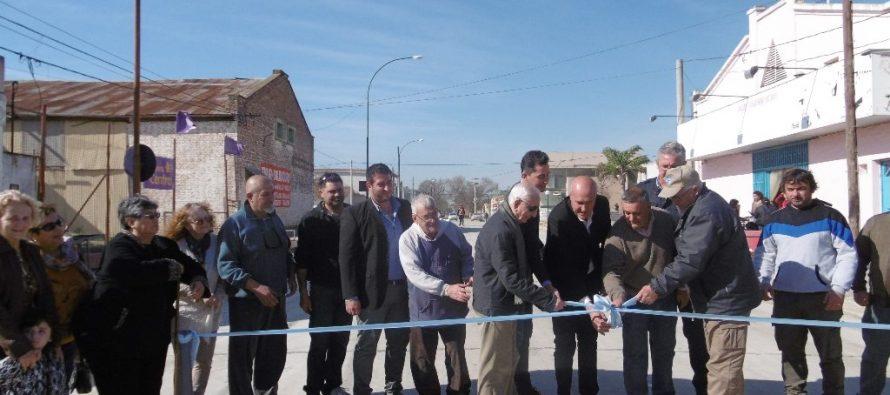 Inauguraron un sector de la calle Córdoba remodelada