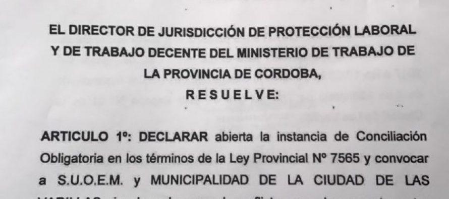 Conciliación Obligatoria en el conflicto municipal