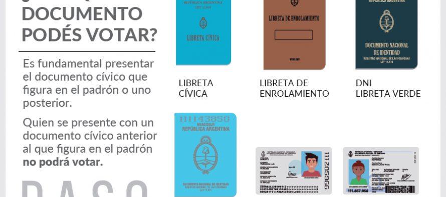 Hasta con Libreta de Enrolamiento se podrá votar este domingo