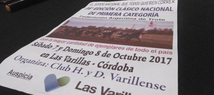 Se disputará en Las Varillas el Nacional de Trote de Primera