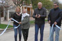 Inauguración calle pavimentada