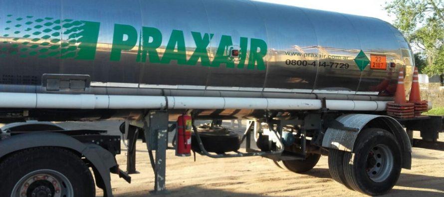 Pérdida de fluido en un camión estacionado