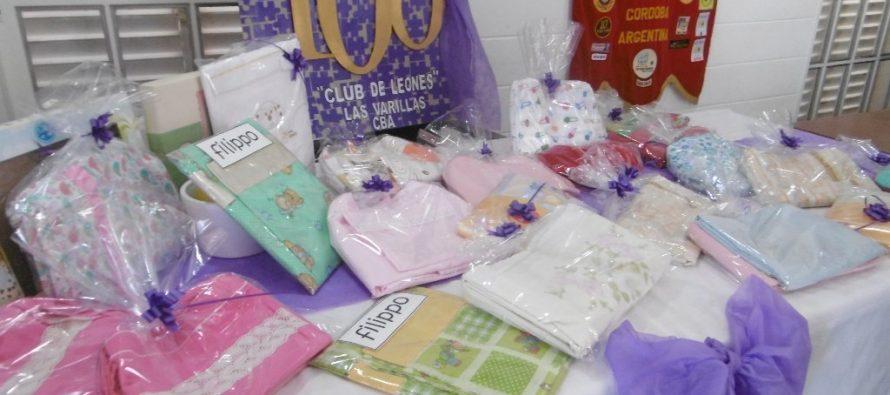 El Club de Leones entregó sábanas a la Guardería Municipal Fátima