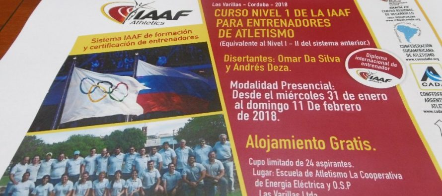 Importante curso para entrenadores de nivel nacional se dictará en Las Varillas