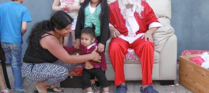 Papá Noel, autos, motos, espectáculos, feria y mucha gente