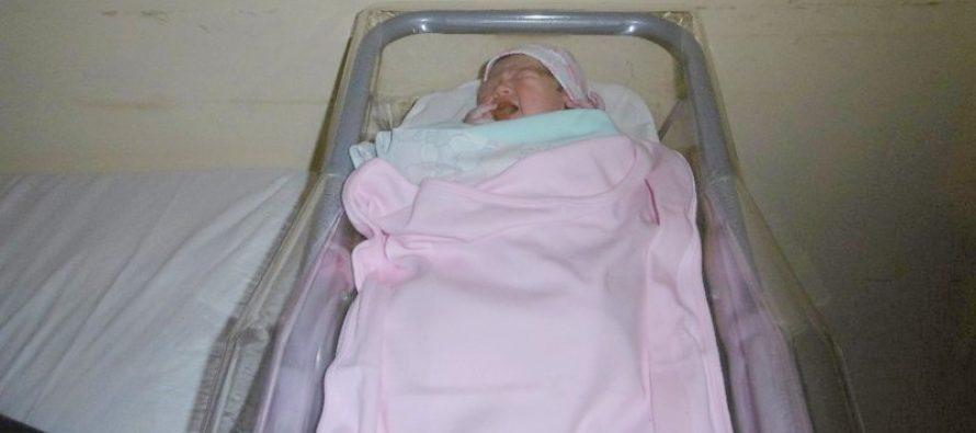 Maia, la primera beba del año en Las Varillas