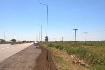Avanza la obra de iluminación del cruce de las Rutas 3 y 13