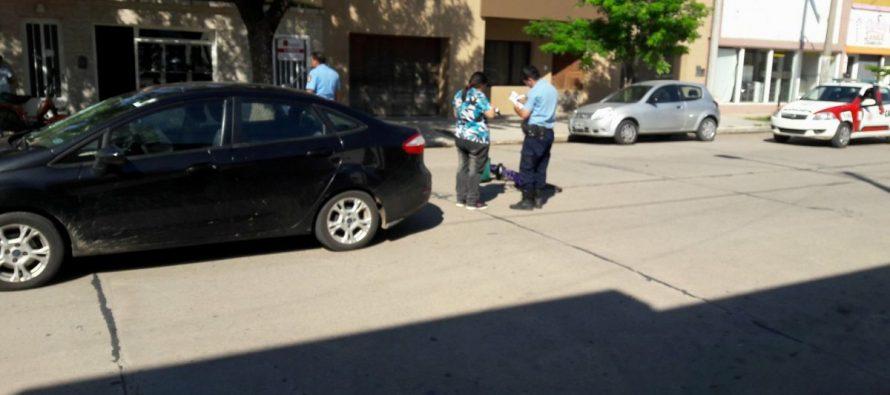 Parte policial: accidente entre auto y bicicleta