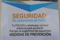 La Policía  está distribuyendo folletos sobre prevención de delitos