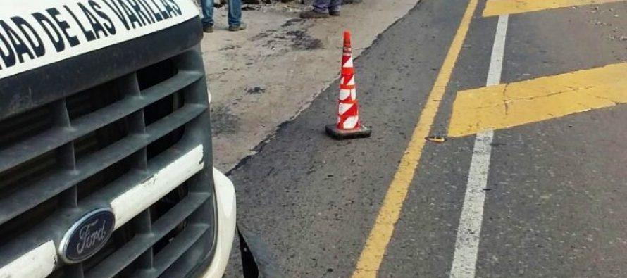 La Municipalidad tapó el bache ubicado frente a La Serenísima