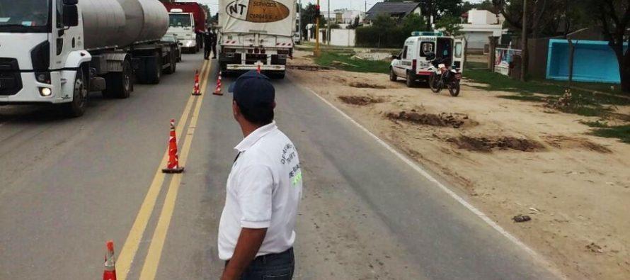 Controlan tránsito de camiones sobre Ruta 158