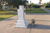 Alicia, monumento a Belgrano: no fue vandalismo sino una travesura