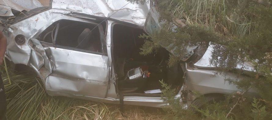 Se accidentó un vehículo cerca de Sacanta: cuatro heridos. Uno con severas lesiones