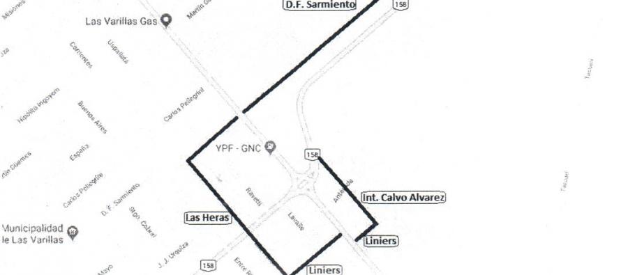 Informan sobre cortes y desvíos en las rutas 13 y 158 por tareas de refuncionalización de la rotonda.