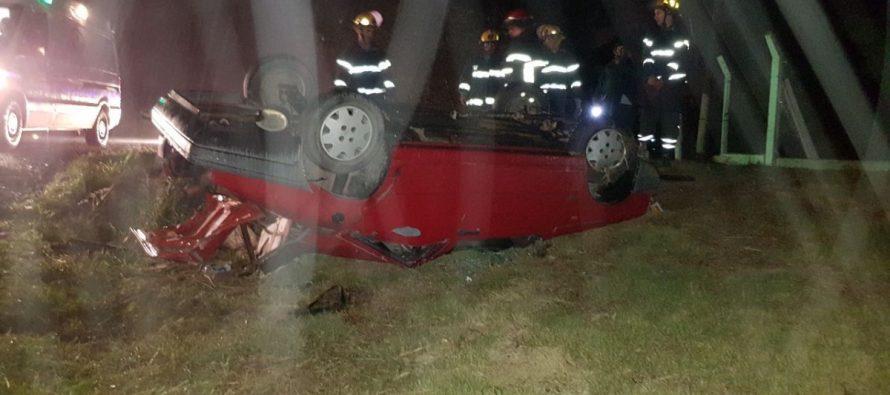 Accidente en el acceso a Las Varillas sobre Ruta 158