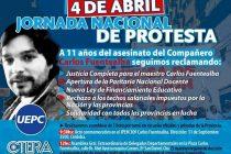 Será escasa la adhesión en Las Varillas a la Jornada de Protesta impulsada por UEPC para este miércoles