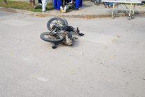 Auto contra moto: el  clásico de los choques varillenses