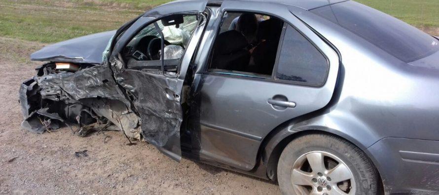 Accidente sobre Ruta 158 cerca de Trinchera. Un herido fuera de peligro