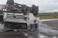 Espectacular accidente cerca de Bell Ville. Dos heridos leves