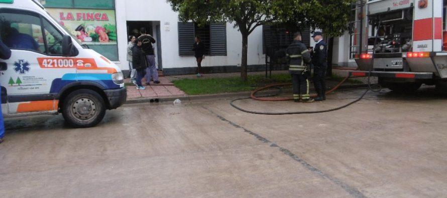 Se incendió un departamento en calle La Rioja