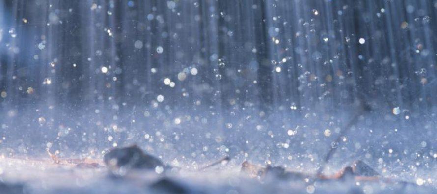 Lluvia escasa pero en toda la región