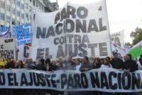 Paro Nacional de este lunes: modalidad en Las Varillas