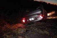 Tumbó un  auto en la Ruta 13 Camino a El Arañado. No hubo heridos