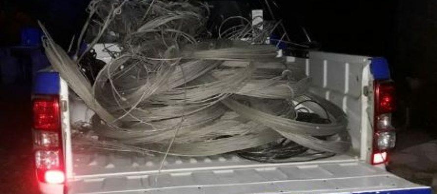 En allanamientos en San Francisco y Laspiur recuperaron cables robados a EPEC