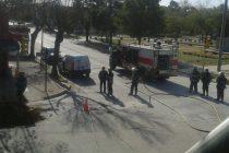 Bomberos convocados para solucionar un escape de gas