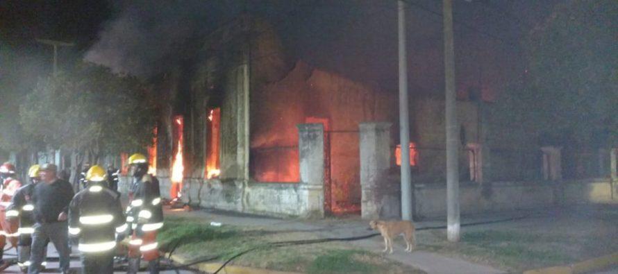 Ardió una casa en Laspiur. Pérdidas totales