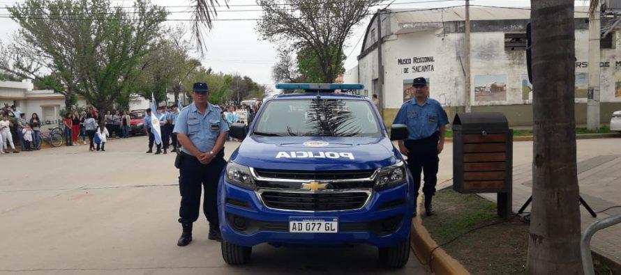 Fiestas Patronales de Sacanta: entregaron móvil policial