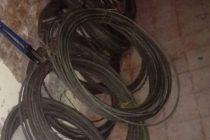 Detuvieron a 3 personas por robo de cables conductores de electricidad
