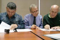 Firma de Convenio entre EPEC, la Municipalidad y las Cooperativas para obra eléctrica