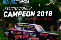 Francisco Baudo, primer campeón del Córdoba Pista 2018