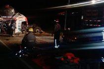 Choque de camiones en la Ruta 13: dos muertos