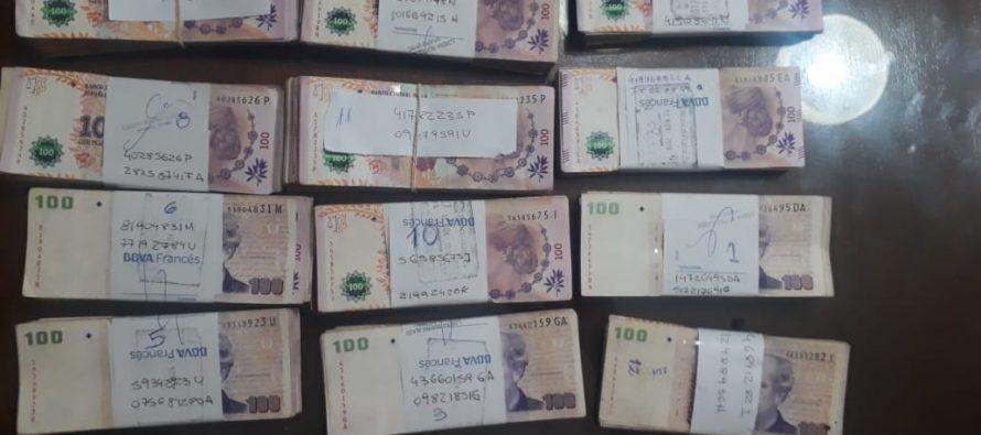 Millonario botín en mercaderías y dinero secuestraron en Laspiur