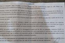 Confirmado: Pauny cesará sus actividades durante enero y arribó a un acuerdo con sus empleados