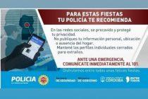 Recomendaciones de la Policía de la Provincia
