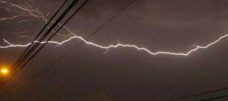 Intensa tormenta pero con escasos daños en la ciudad
