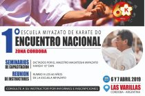 Primer encuentro Nacional de Karate de la Escuela Miyazato en Las Varillas
