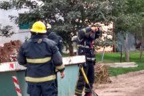 Escape de gas y trabajo para Bomberos